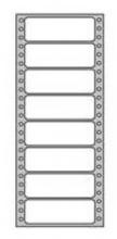 Etikety tabelačné 89x36 1radové