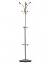 Podlahový vešiak Chris buk oceľ/drevo