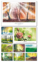 Nástenný kalendár Akvarely