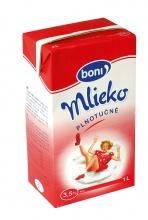 Trvanlivé mlieko Boni plnotučné 1 liter