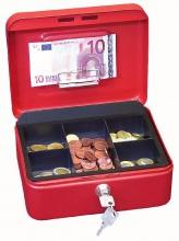 Pokladnička červená s klipom 200x160x90 mm